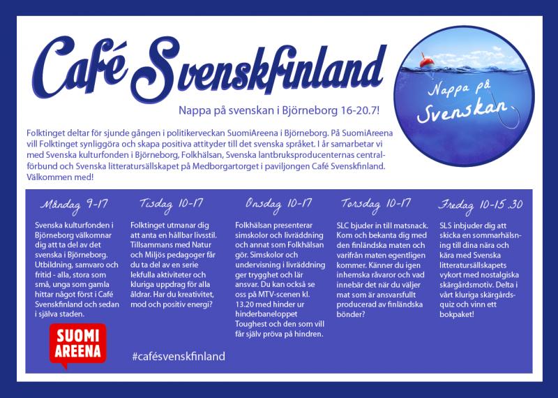 SLC - Cafe Svenskfinland Flyer2018