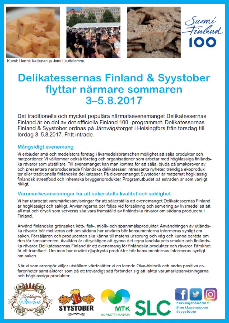 SLC - Delikatessernas Finland2017 Marknadsforingsbrev Svenska