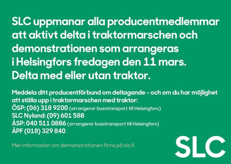 SLC - Traktormarsch Annons
