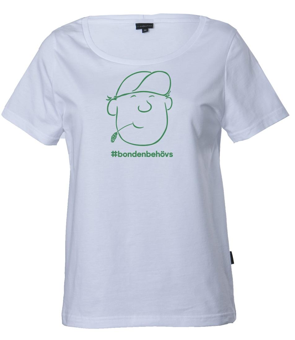 SLC - T-skjorta för damer #bondenbehövs, VIT