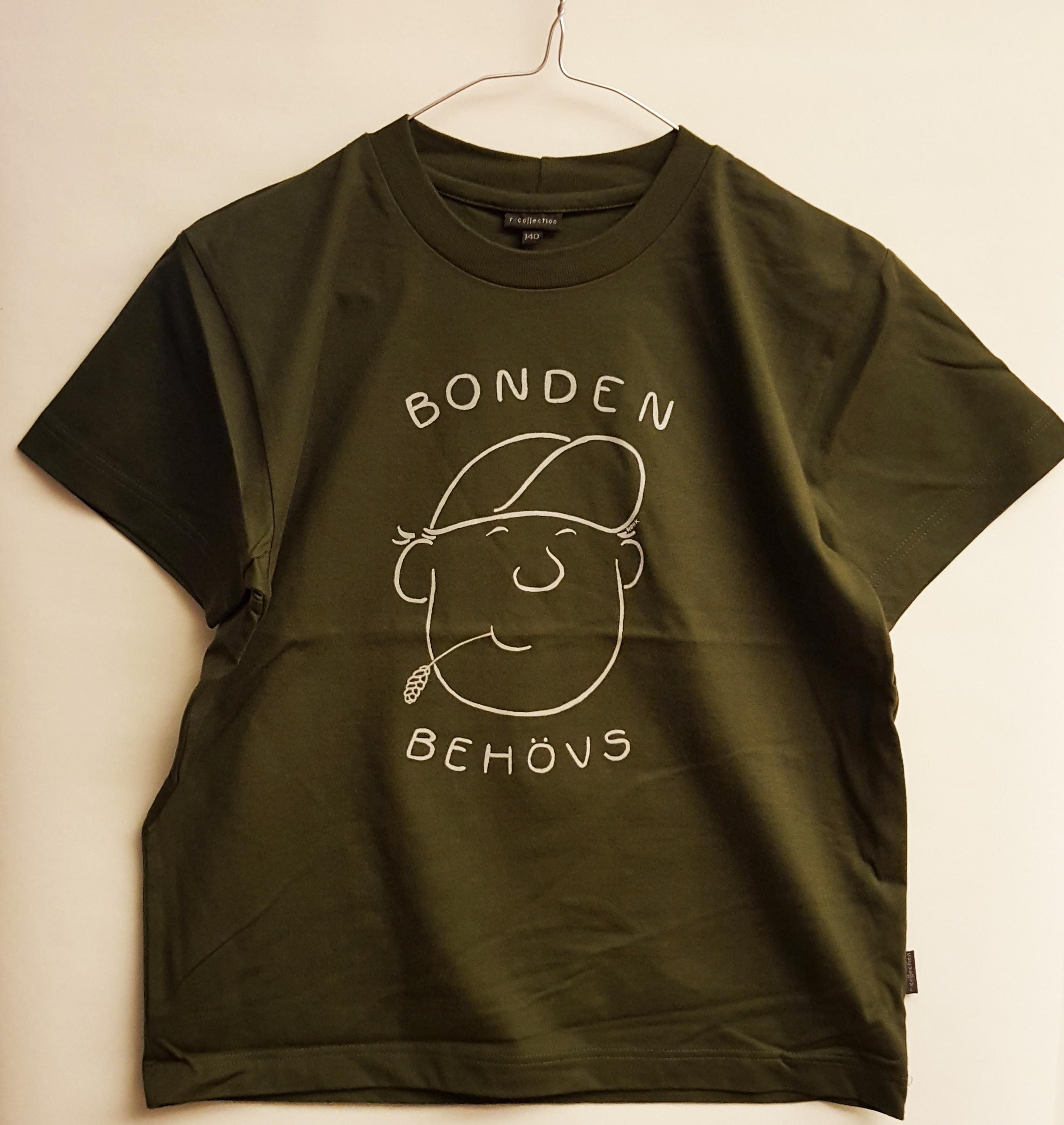 SLC - Utgående modell: T-skjorta för barn och vuxna, Bonden behövs, mörkgrön